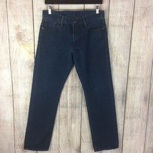 Levi's Men's 504 Dark Wash Denim Jeans Sz 30x30